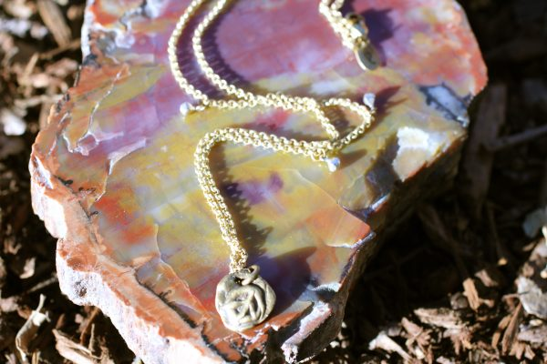 Peace Out necklace Jewelry made from recycled sterling silver or brass