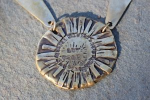 Sunshine necklace Jewelry made from recycled brass or silver plated brass