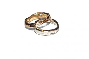 Show the Love ring Jewelry made from recycled sterling silver and 14k gold