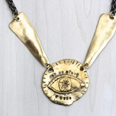 my eyes are up here necklace