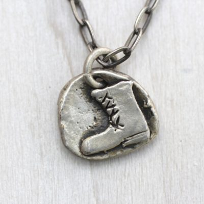 I stand up boot necklace