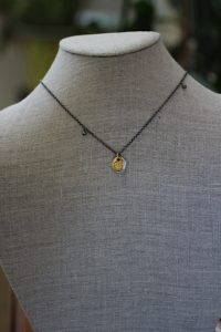 jewelry made from recycled 14k gold plated sterling silver