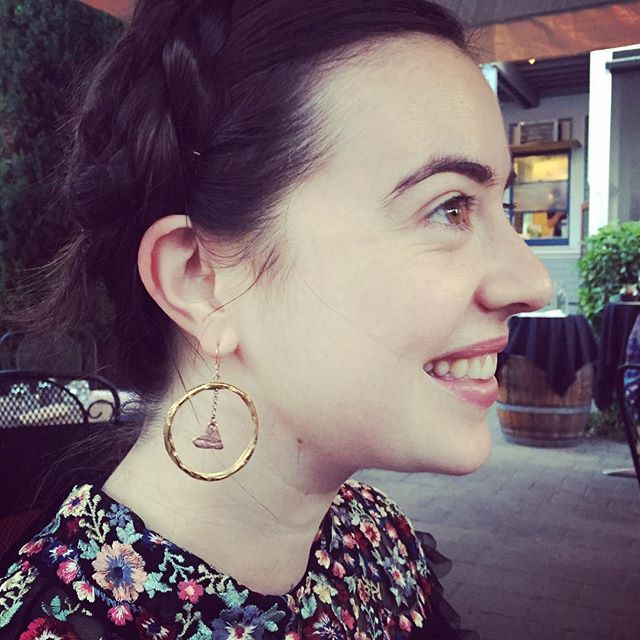 I love running into people wearing #showthelovejewelry !! Shannon is rocking the #IAmListeningToMyHeart earrings. Something we all should remember!